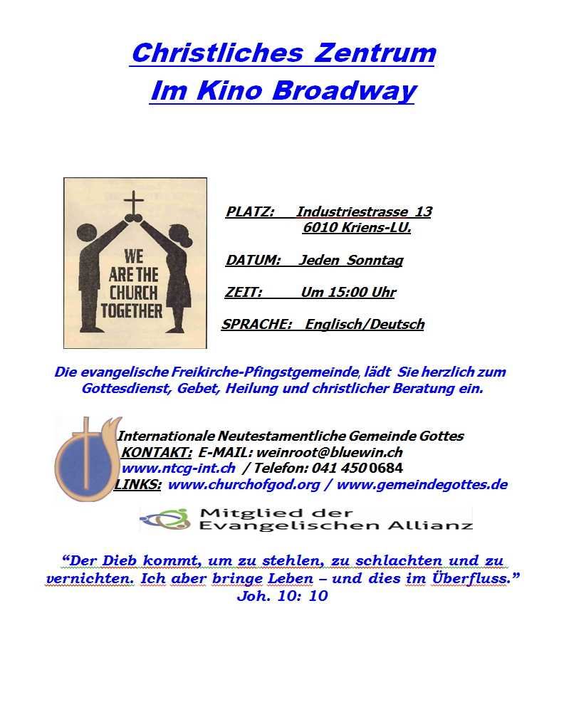 Christian Worship Centre At Kino Broadway (Kriens-LU)