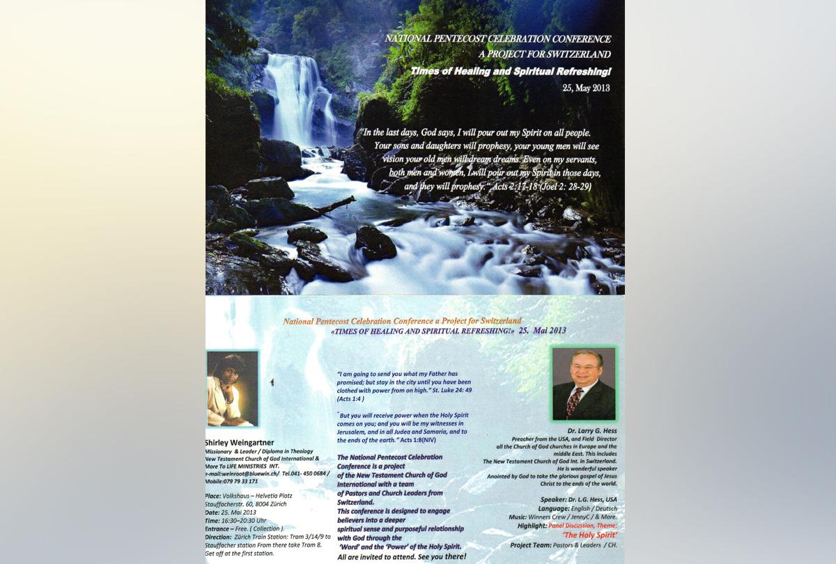 National Pentecost Celebration Conference 2013 (EN)