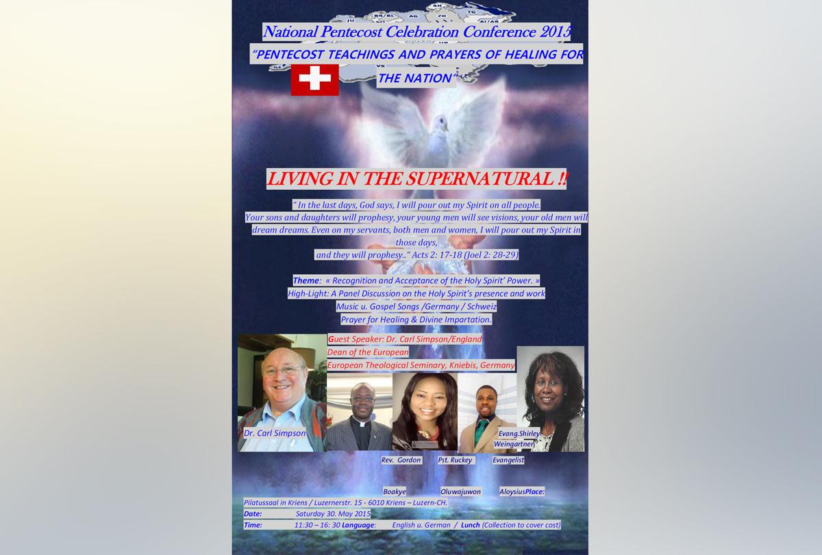 National Pentecost Celebration Conference 2016 (EN)